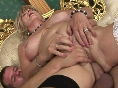 Eldery Business Lady Sally G Horny for some Fresh Cock