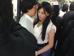 Cute babe Saori Hara gets fucked on a bus!