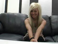 Young blonde interview and pussy fuck