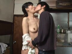 Sumika Nanjitori the hot mature Japanese gets fucked in the kitchen