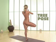 Naughty Sara Underwood makes hot yoga lessons