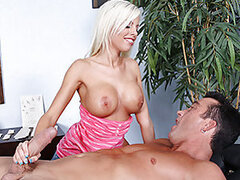 Britney became a masseuse just so she can fuck hot guys!!Today she was in for a treat, she had two hot studs back to back!First she fucked Billy and after him she fucked her next client Jordan. Talk about a regular nympho!She fucked the two guys back to b