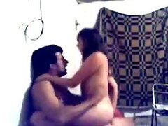 Cute Mexican chick sucks and rides her husband's cock