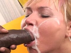 Sizzling milf gives a nice blowjob to her son in law