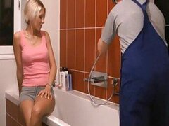 Plumber gets to fuck the housewife