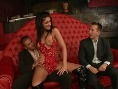 Bachelor Party Ends Up With Three Cocks for Sorana the Stripper