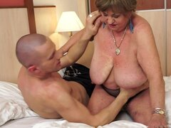 Size Doesn't Matter But This Randy Granny Prefers Them Big