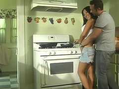 Fucking and Licking Asa Akira's Ass In The Kitchen