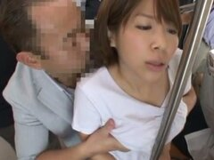 Miku Hasegawa gets fucked from behind in a public bus