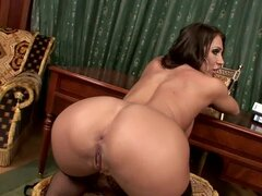 Candy Strong Is A Hot Secretary Pleasing Herself