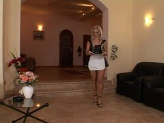 Cindy Dollar the hot housemaid gets double penetrated