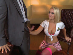 Insatiable blonde woman Alexis Monroe in blowjob frenzy