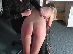 Bright red ass from a sexy spanking