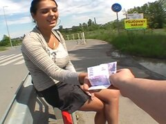 POV Fun In Public With A Slutty Brunette