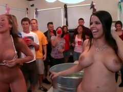 Frat party with pornstars playing dirty games