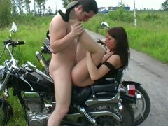 Anal Fuck on a Bike and Facial for Beautiful Amateur Babe