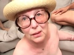 Ugly old lady fucked by a hard cock