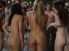 Beautiful Teens Getting Naked In Wild Party